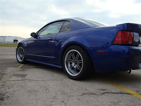 2004 mustang wheels sonic blue 2004 mustang gt with sve anniversary wheels and