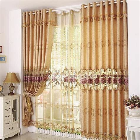 luxury sheer curtains luxury golden peony floral embroider hollow sheer curtain