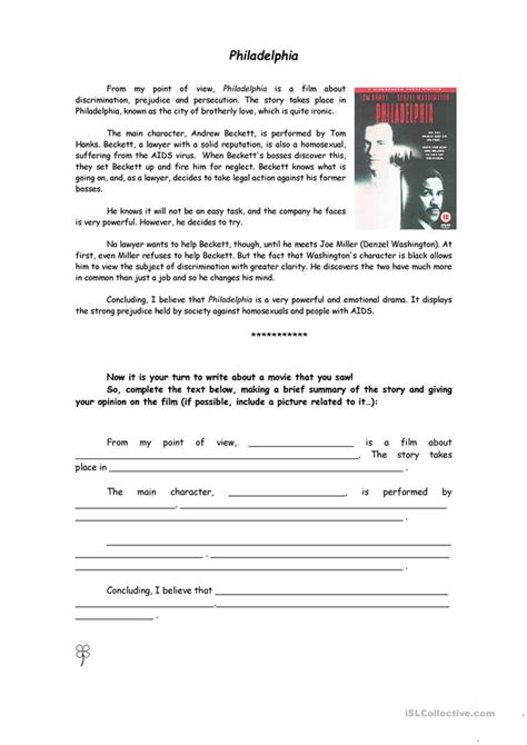 documentary review template writing a review worksheet free esl printable