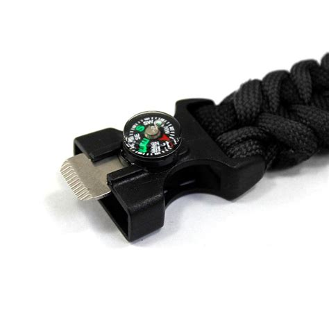 Paracord Survival Bracelet With Magnesium Starter Compass survival bracelet with magnesium flint starter compass black jakartanotebook