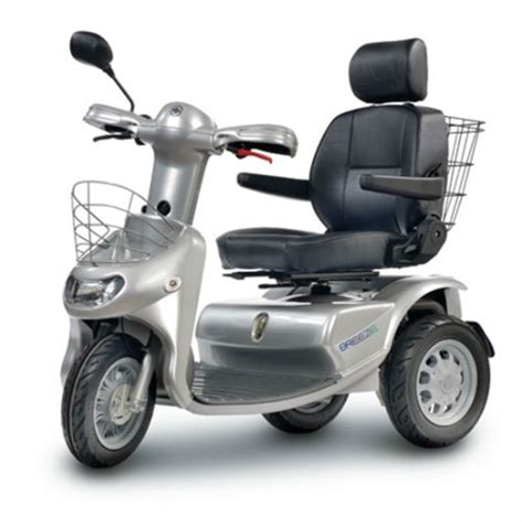 afikim breeze 3 wheel scooter w optional wide seat and