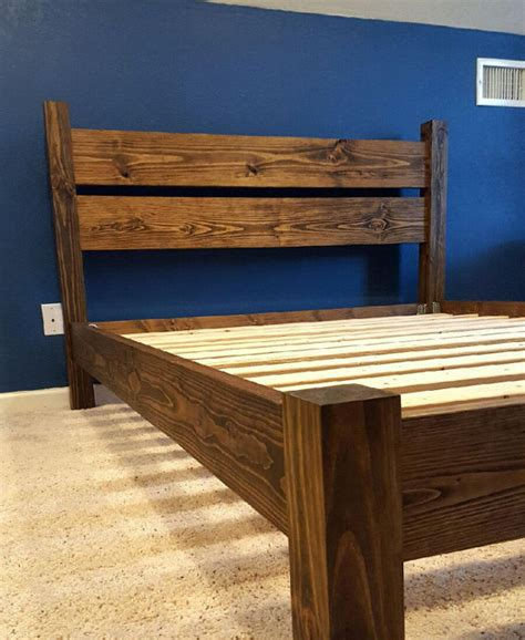 Handcrafted Beds - platform four post bed handcrafted solid wood with