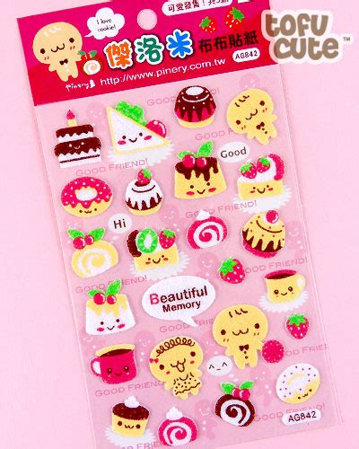 Tayo Tayo Sticker Puding Bento Lolipop buy kawaii felt stickers gingerbread friends at tofu