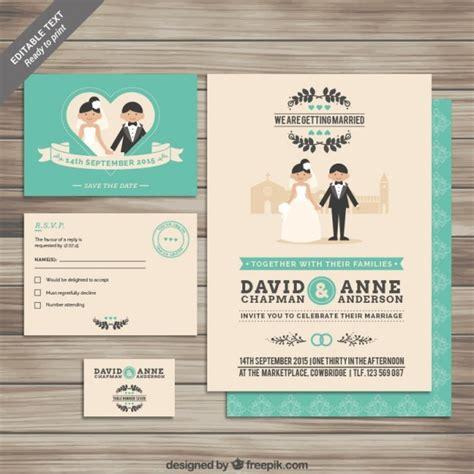 template undangan illustrator colecci 243 n de invitaciones de boda descargar vectores gratis