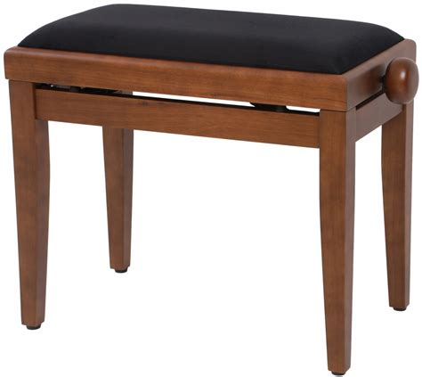 t bench an t kb10wnm piano bench velours walnut mat