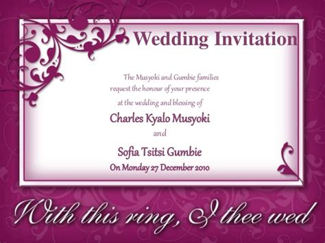 How To Invite For Wedding by Wedding Invite Powerpoint