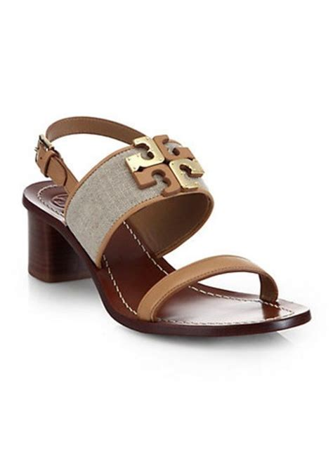 burch sandals sale burch burch lowell linen leather sandals