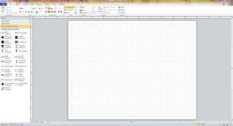 use visio 2010 for visualizing and presenting project