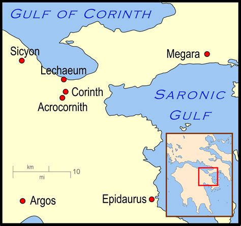 map of corinth map of corinth greece
