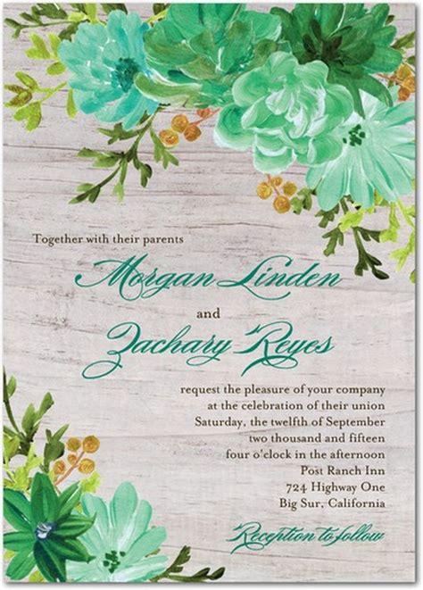 wedding invitation background designs mint green 22 amazing greenery botanical wedding invitations