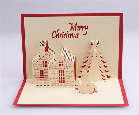 new year pop up card template house 3d pop up gift greeting 3d cards