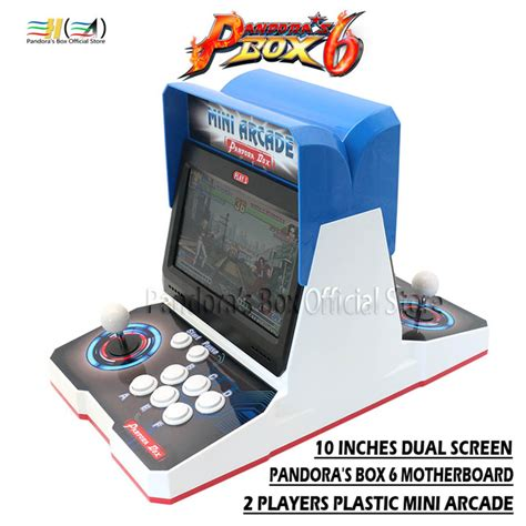mini arcade 2019 in 1 2019 pandora box 6 plastic mini arcade bartop 2 player