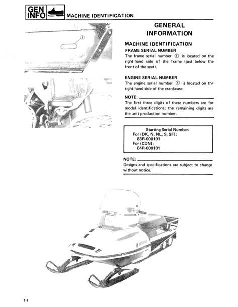 1994 Yamaha Viking VK 540 Series Snowmobile Service Repair