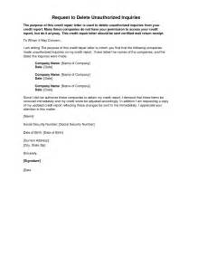 Sample Letter To Remove Items From Credit Report Removal Of Credit Inquiry Letter Credit