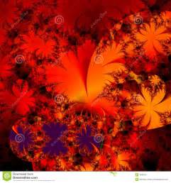 wild red and black floral abstract background design