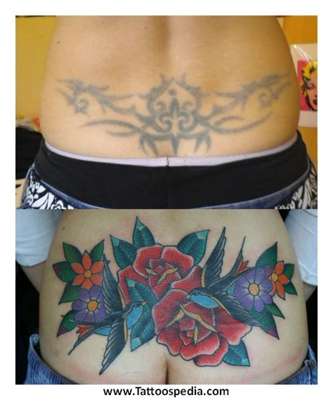 lower back tribal tattoo cover up cover up tattoos for lower back 1