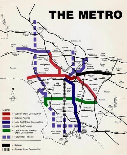 La Metro System Map by The Metro Dream La Eastside