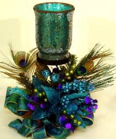 peacock centerpieces peacock floral flower arrangement centerpiece w mosiac