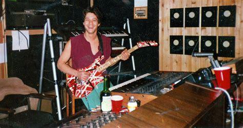 eddie van halen drill van halen all access photo eddie in 5150 studios 1985