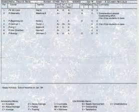 report card template middle school everyday moments of our high school report card