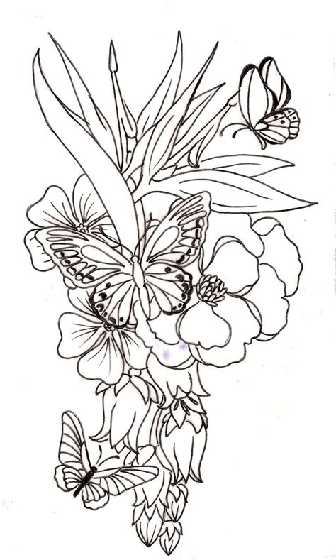 flower vine drawing pencil drawing collection