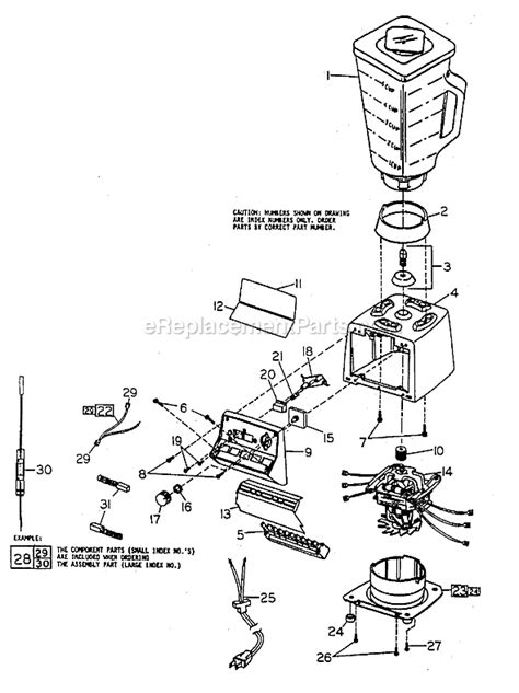 Oster Kitchen Center Parts List by Oster 4105 8 Parts List And Diagram Ereplacementparts