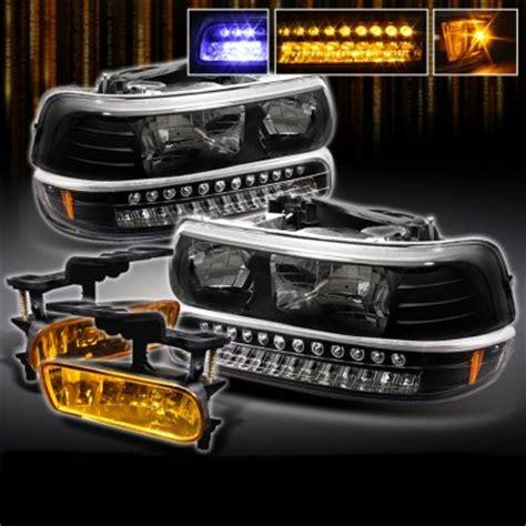 chevy tahoe 2000 2006 black headlights and bumper lights