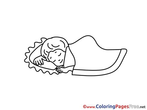 sleeping coloring page sleep coloring pages for free