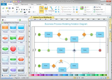 process map software free process mapping business diagram solutions