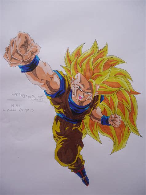 imagenes de goku transformandose en ssj3 mis dibujos de dragon ball z gt y otros taringa