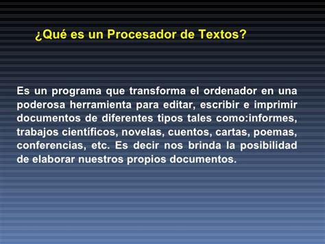 procesador de texto procesador de texto historia