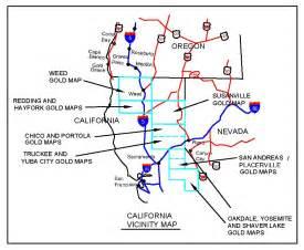 california gold maps treasure maps gold panning maps