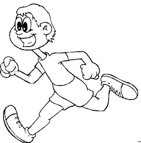 lachender laeufer ausmalbild & malvorlage (sport)