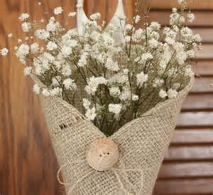 pew decorations for wedding and creative idea for pew markers burlap button and baby s breath an attractive and