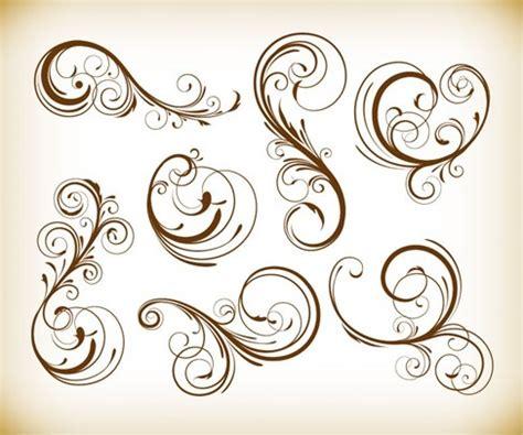 vintage floral design elements vector illustration vintage design swirl floral element vector graphis set
