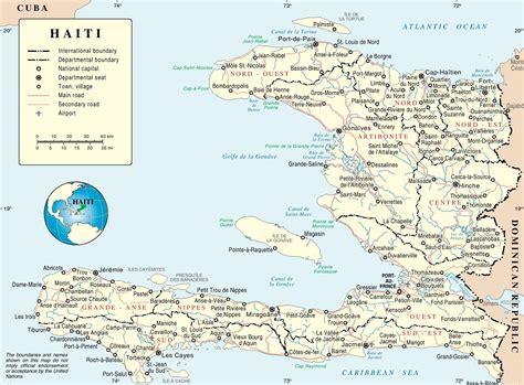 haiti map of cities haiti political map