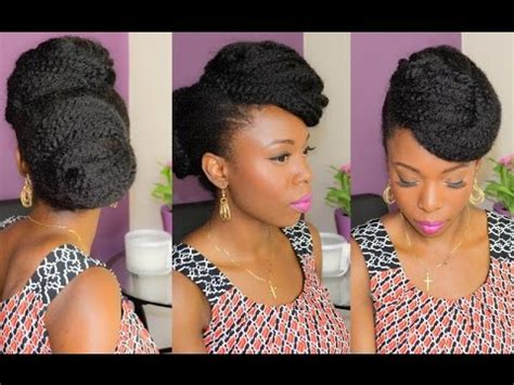 3 classic updos on natural hair (protective style) youtube