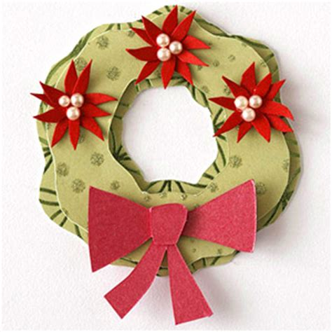 pattern for paper poinsettia scrapbooking