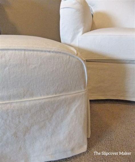 white ottoman slipcover denim slipcovers the slipcover maker