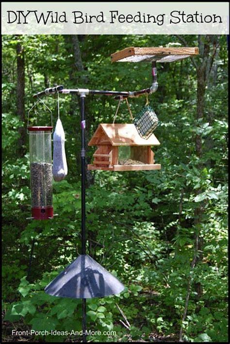 backyard bird feeder wild bird feeding station backyard bird feeding front