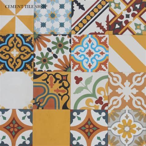 Patchwork Cement Tile - cement tile shop encaustic cement tile