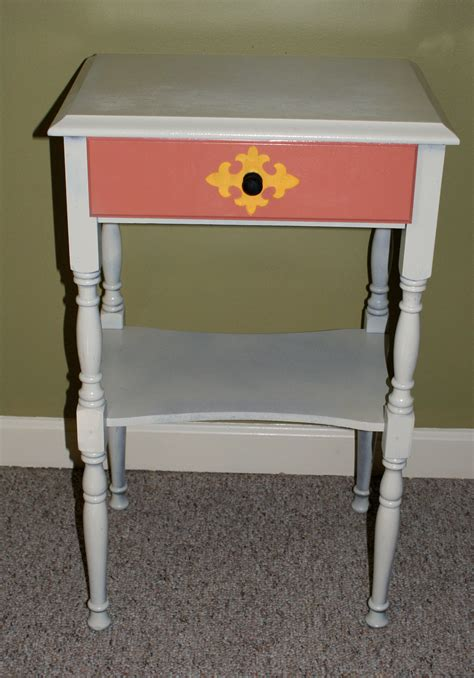 spray painting end tables side table rev