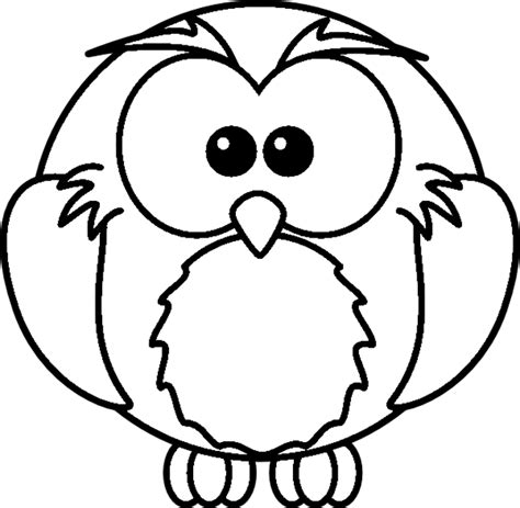 cartoon owl coloring page printout 171 animals coloring