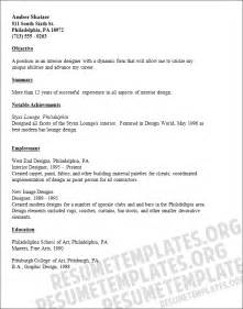 interior designer cv template cv resume for an interior designer resume template for free