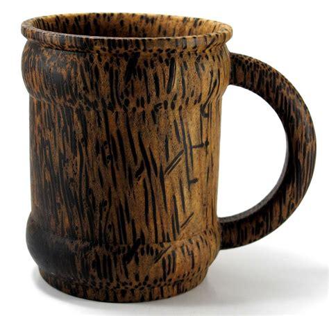 handmade palm wood mug souvenir cup carved wooden ebay