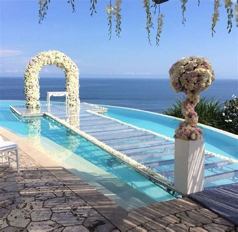 Wedding Aisle On Pool by Yes Your Ceremony A Pool With This Glass Top