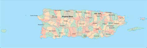 zip code map puerto rico puerto rico map detailed map of puerto rico