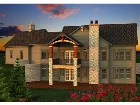 Mountain House Plans Rear View Mountain House Plans Rear View Mountain Home Plans 2 Story Mountain House Plan Design 010h
