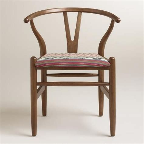 world market armchair donnan wishbone armchair with upholstered seat armchairs