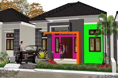 kombinasi warna cat rumah bagian depan abu abu berbagai